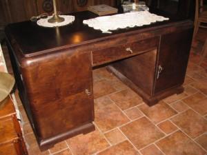Biurko Art Deco po renowacji