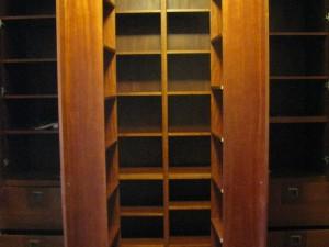 Biblioteka Art-Deco mahoniowa otwierana na wymiar