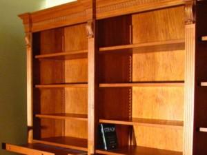 Biblioteka jasny orzech na wymiar