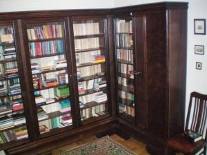 Biblioteka styl lata 40-te XXw narożna  na wymiar