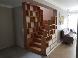 zabudowa dębowa schodów